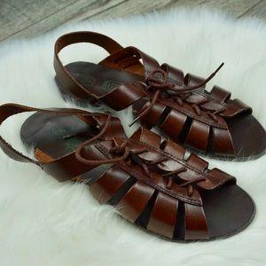 Leather Collection Brown Gladiator Sandal vintage